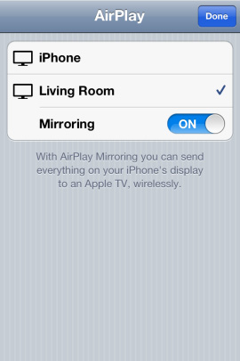 AirPlay iPhone 4S