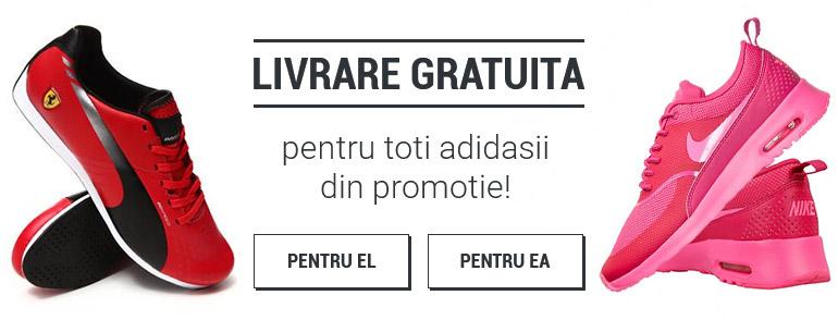 Livrare gratuita pentru toti adidasii din promotie!