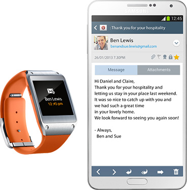 Samsung Galaxy Gear Notificari