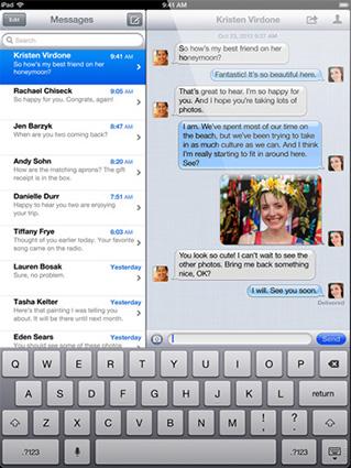 iPad 4 Mesaje